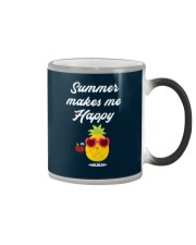 Summer Makes Me Happy Color Changing Mug color-changing-right