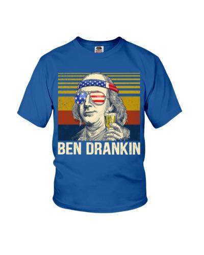 Vintage Ben Drankin 4th of July Benjamin Franklin