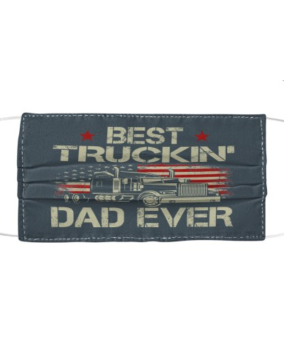 Best Truckin Dad Ever Vintage USA Flag Fathers Day