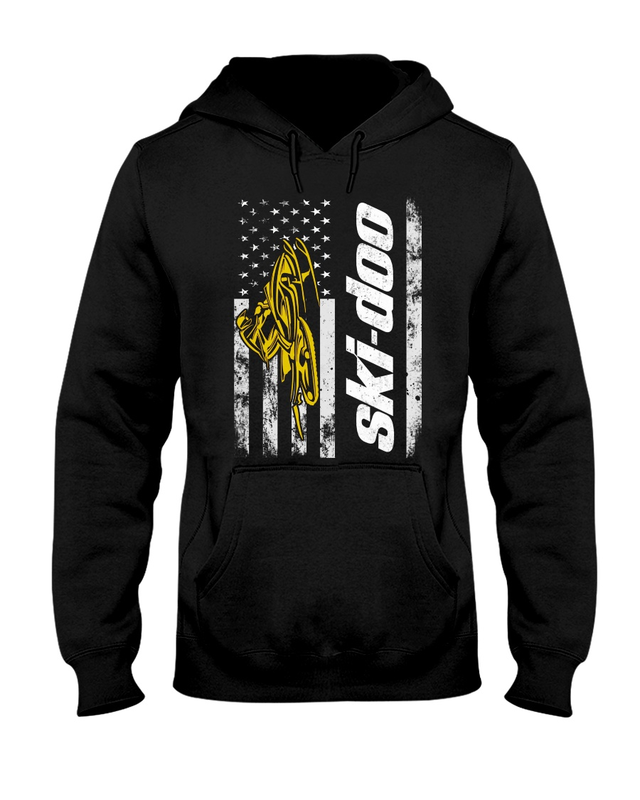 FLAG SKI YELLOW Hooded Sweatshirt