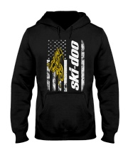 FLAG SKI YELLOW Hooded Sweatshirt front