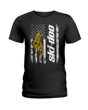 FLAG SKI YELLOW Ladies T-Shirt thumbnail
