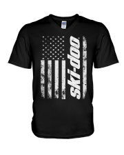 SKI FLAG V-Neck T-Shirt tile