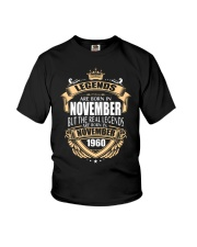 Kings Legends Are Born In November 1960 Youth T-Shirt thumbnail