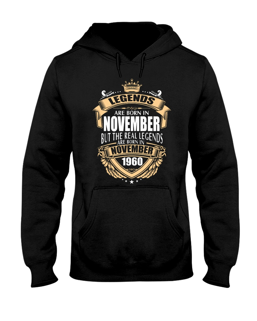 Kings Legends Are Born In November 1960 Hooded Sweatshirt