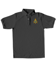 Masonic Embroidered Polo Shirt Classic Polo embroidery-polo-short-sleeve-layflat-front
