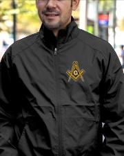 Masonic Emblem Embroidery Jacket Lightweight Jacket garment-embroidery-jacket-lifestyle-02