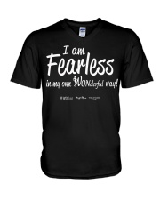 I Am Fearless wh V-Neck T-Shirt thumbnail