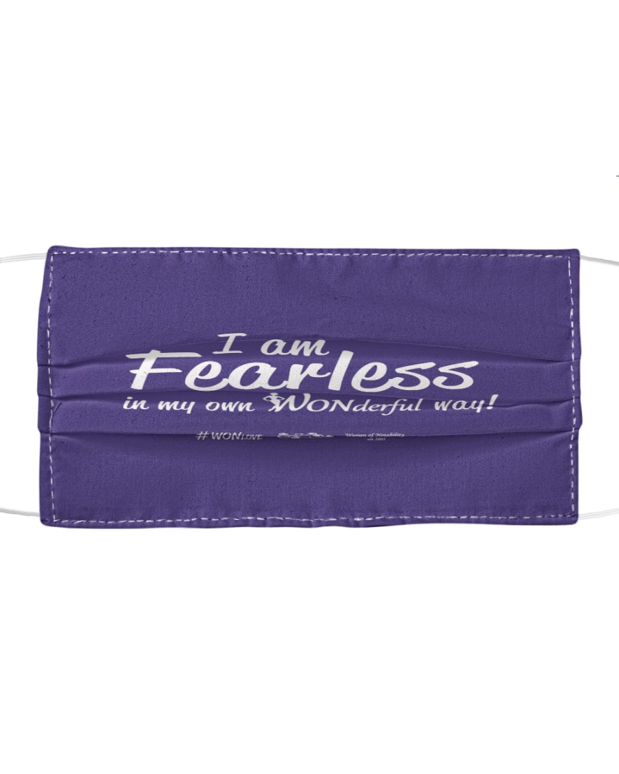 I Am Fearless wh Cloth face mask