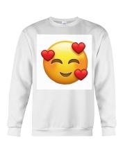 emoji love Crewneck Sweatshirt thumbnail