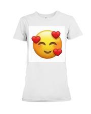 emoji love Premium Fit Ladies Tee thumbnail