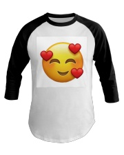 emoji love Baseball Tee thumbnail