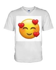 emoji love V-Neck T-Shirt thumbnail