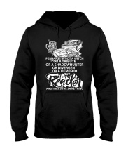 BUT I A READER -BOOK Hooded Sweatshirt thumbnail