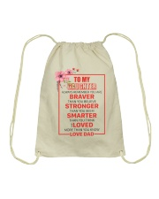 TO MY DAUGHTER MUG Drawstring Bag thumbnail
