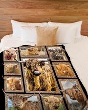 "Blanket - Cow Large Fleece Blanket - 60"" x 80"" aos-coral-fleece-blanket-60x80-lifestyle-front-02"
