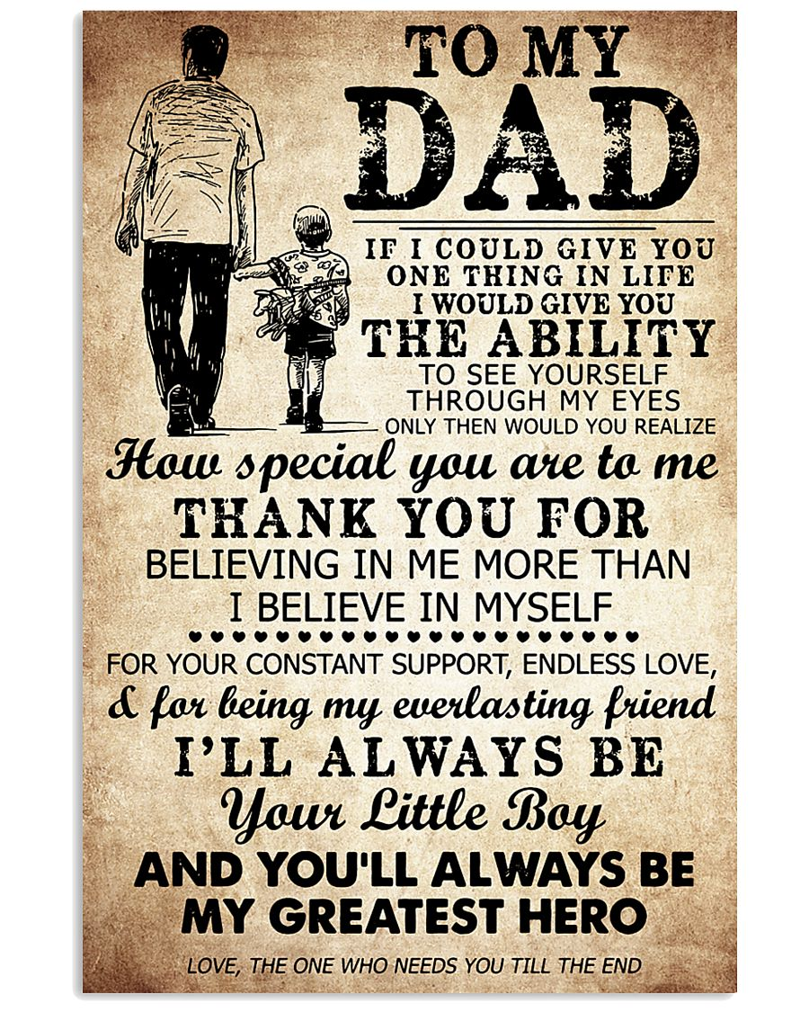 To My Dad My Great Hero TATA 11x17 Poster