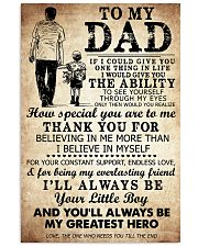 To My Dad My Great Hero TATA 11x17 Poster front
