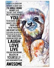 Sloth Today Poster HBH 03 11x17 Poster front