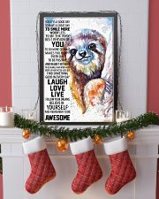 Sloth Today Poster HBH 03 11x17 Poster lifestyle-holiday-poster-4
