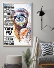 Sloth Today Poster HBH 03 11x17 Poster lifestyle-poster-1