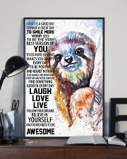 Sloth Today Poster HBH 03 11x17 Poster lifestyle-poster-2