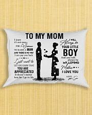 To My Mom - Boy Pillow TATA Rectangular Pillowcase aos-pillow-rectangle-front-lifestyle-6