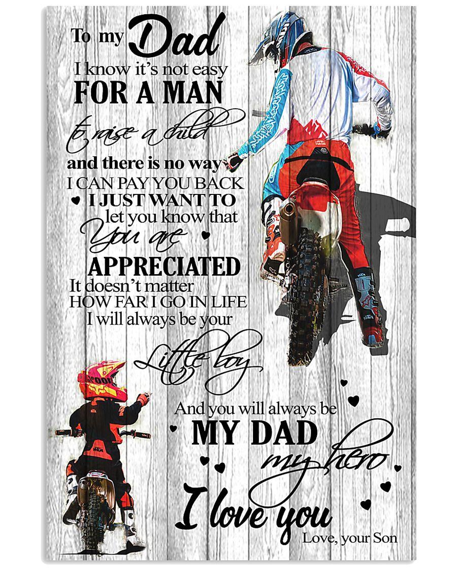 To My Dad Motobike TATA 11x17 Poster