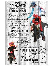 To My Dad Motobike TATA 11x17 Poster front