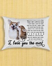 I Love You The Most Corgi Pillow Rectangular Pillowcase aos-pillow-rectangle-front-lifestyle-6
