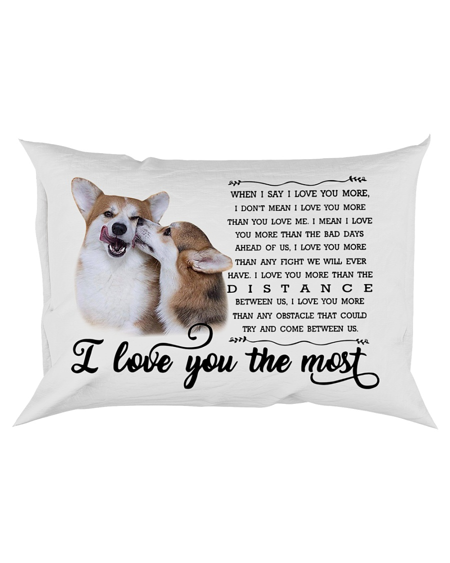 I Love You The Most Corgi Pillow Rectangular Pillowcase