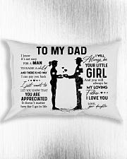 To My Dad - Girl Pillow TATA Rectangular Pillowcase aos-pillow-rectangle-front-lifestyle-4