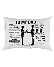 To My Dad - Girl Pillow TATA Rectangular Pillowcase front