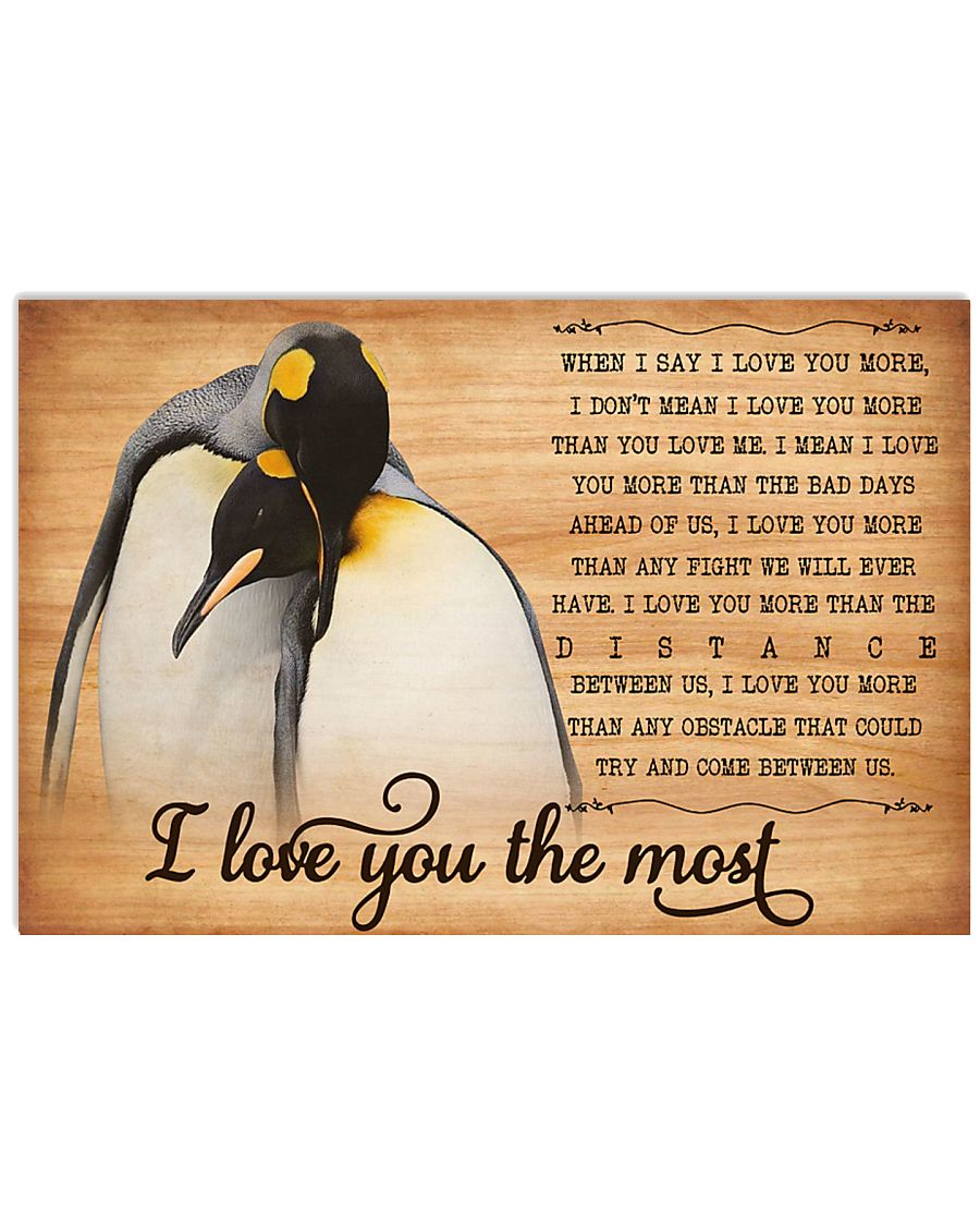 Penguin Love You Most Poster HBH 01 17x11 Poster