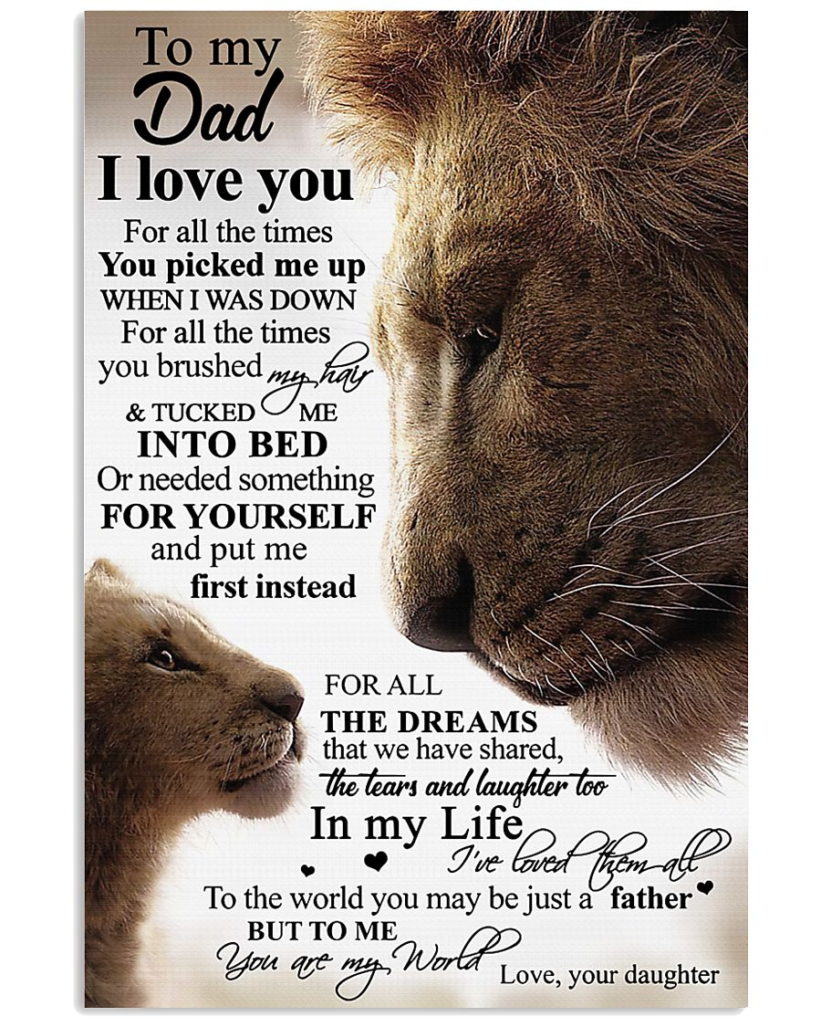To My Dad Daughter Lion TATA 11x17 Poster