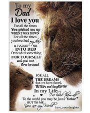 To My Dad Daughter Lion TATA 11x17 Poster front