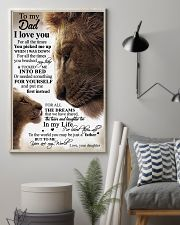 To My Dad Daughter Lion TATA 11x17 Poster lifestyle-poster-1