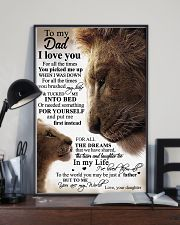 To My Dad Daughter Lion TATA 11x17 Poster lifestyle-poster-2