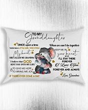 Pillow To My Granddaughter Elephant HBH 01 Rectangular Pillowcase aos-pillow-rectangle-front-lifestyle-4