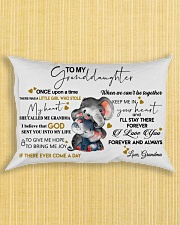 Pillow To My Granddaughter Elephant HBH 01 Rectangular Pillowcase aos-pillow-rectangle-front-lifestyle-6