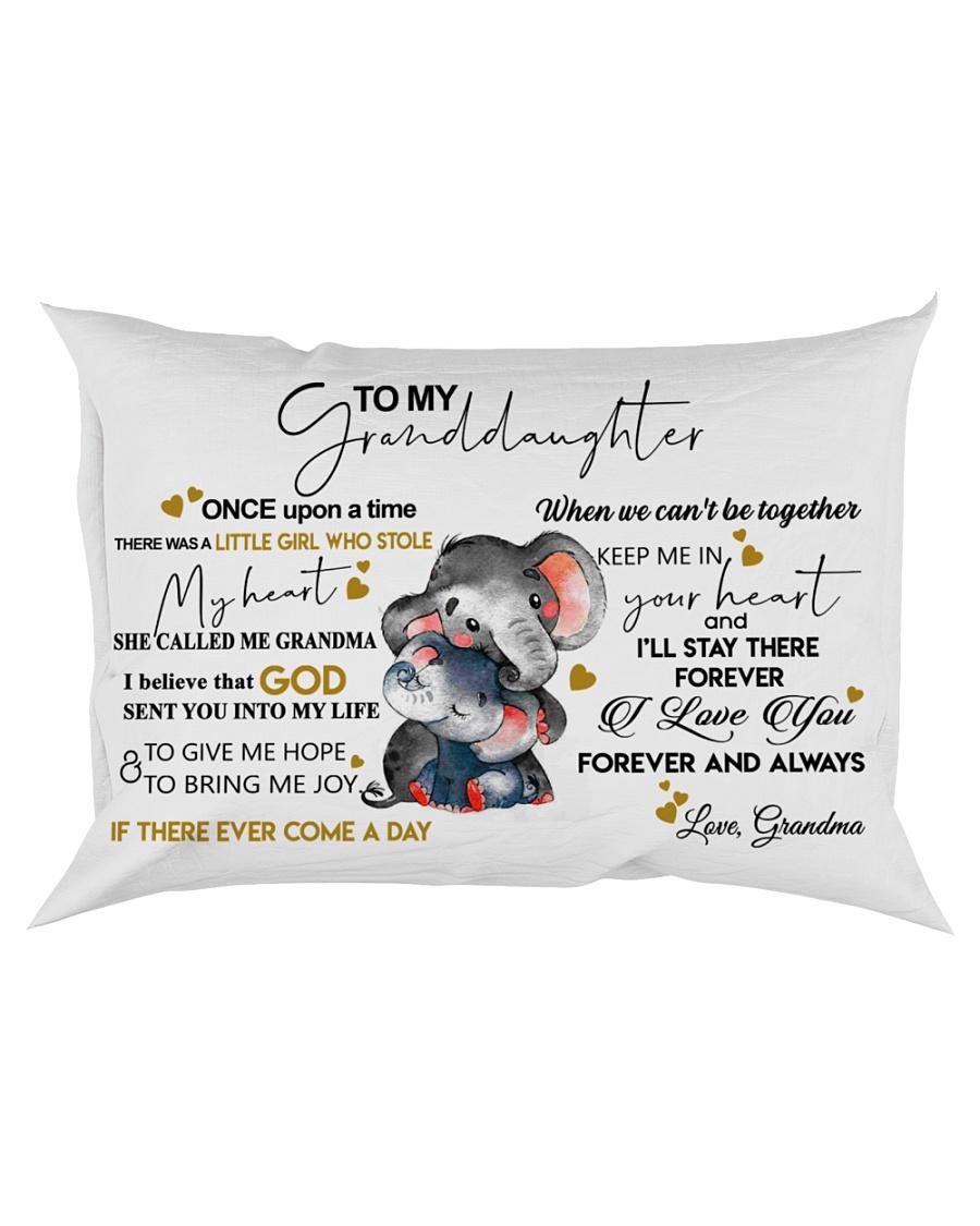 Pillow To My Granddaughter Elephant HBH 01 Rectangular Pillowcase