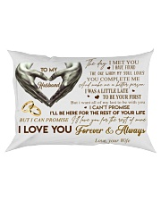 Couple To My Husband Hand Pillow  07 HBH Rectangular Pillowcase front