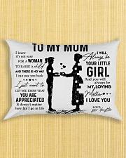Pillow Daughter To Mom HBH Rectangular Pillowcase aos-pillow-rectangle-front-lifestyle-6