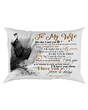 Couple To My Wife Pillow HBH Rectangular Pillowcase front