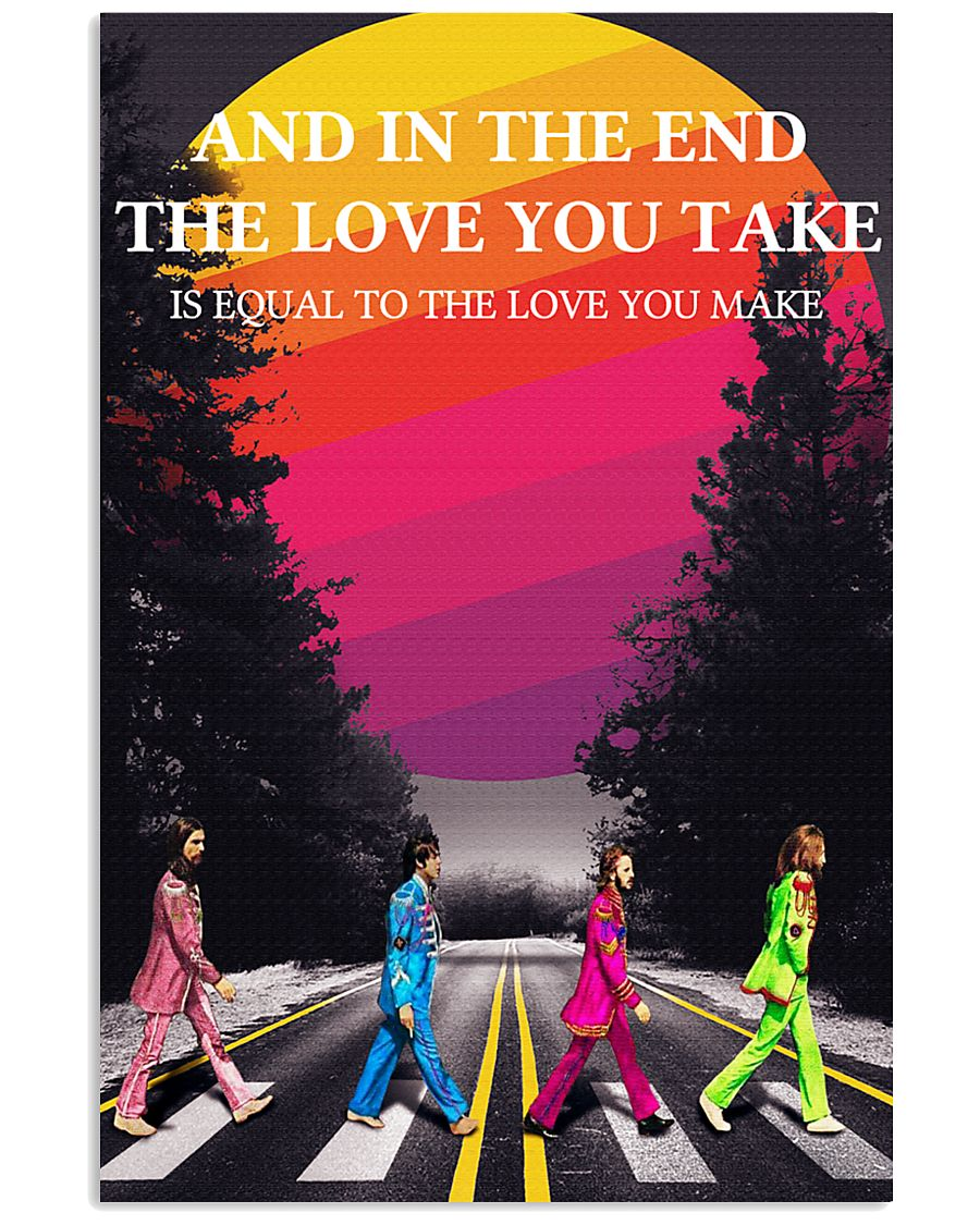 Beatles and in the end 24x36 Poster