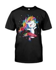 Ballet Dancer Unicorn Classic T-Shirt front