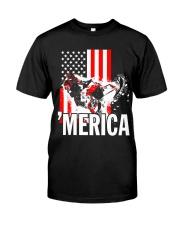 Merica racer flag Classic T-Shirt thumbnail