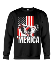 Merica racer flag Crewneck Sweatshirt thumbnail