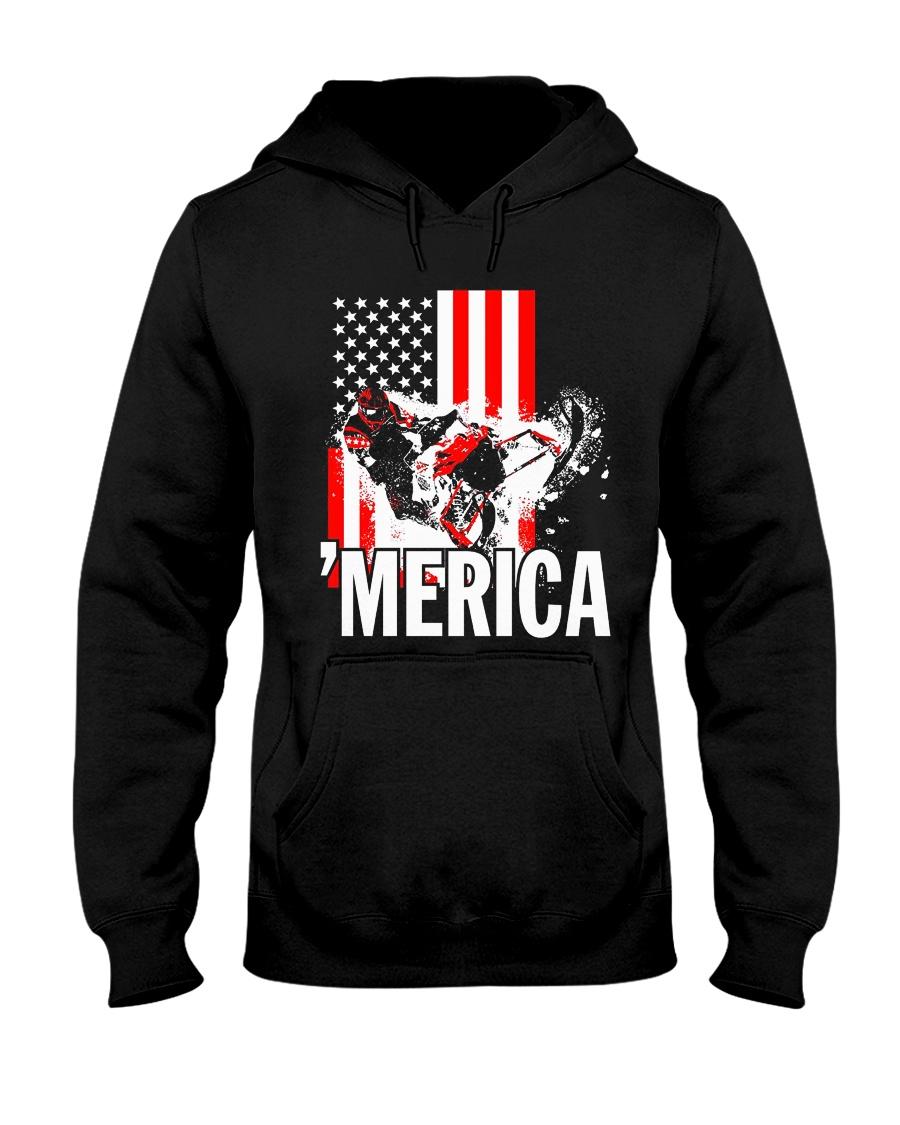 Merica racer flag Hooded Sweatshirt