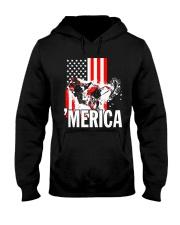 Merica racer flag Hooded Sweatshirt front